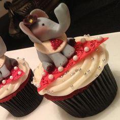 Delta Sigma Theta red velvet cupcakes