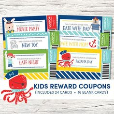 Kids Reward Coupons Printable Love Coupons Coupons for Reward Chart Kids, Kids Rewards, Reward Coupons, Love Coupons, Family Game Night, Family Games, Dad Movie, Monitor, Coupons For Boyfriend
