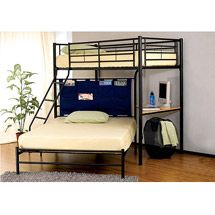 Walmart: Winoma Twin over Full Bunk Bed, Black