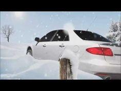 Animation 3D d'une voiture sortant de la route. Idée exploitant la thématique « Faites du hors-piste, mais pas sur la route ».