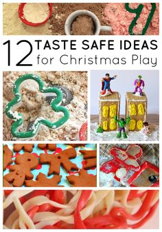 12 Taste Safe Christmas Sensory Play Ideas on lalymom.com - great for babies, toddlers and preschoolers too!