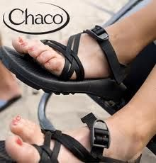 """Would be great for camping, hiking and walking. Have heard GREAT things about these!!""  I love my Chacos!!!!!! They have a great tread (you don't slip on wet surfaces), once they've been broken in they're really comfortable, and no blisters.  Walked around DC for 3 days (rain & shine) & loved them.  Also great at the beach!!"