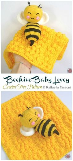 Beehive Baby Lovey Crochet Free Pattern – Crochet & Knitting Beehive Baby Lovey Crochet Free Pattern – Crochet & Knitting,Amigurumi free pattern Beehive Baby Lovey Crochet Free Pattern – Crochet & Knitting Related posts:Chunkimals. Crochet Pattern Free, Crochet Bee, Crochet Lovey, Crochet Baby Cocoon, Crochet Gratis, Crochet Amigurumi, Crochet Motifs, Crochet Blanket Patterns, Cute Crochet