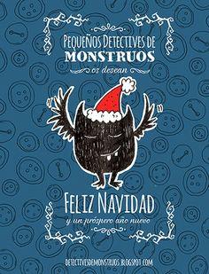 Pequeños Detectives de Monstruos: ¡Ha llegado la Navidad! #illustration #pequeñosdetectivesdemonstruos #rol #navidad