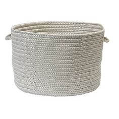 Zipcode Design Braided Fabric Basket Color: Cuban Sand, Size: H x W Toy Basket, Basket Decoration, Storage Baskets, Storage Boxes, Home Decor Outlet, Outdoor Storage, Modern Furniture, Wicker, New Baby Products