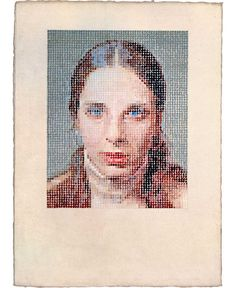 Chuck Close Leslie/Pastel, 1977 pastel and watercolor on paper sheet: 30 x 22 in. x cm) Chuck Close, Drawing Grid, Pointillism, Classical Art, Portraits, Rembrandt, Art Tips, Arts And Crafts, Pastel