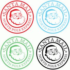 Silhouette Design Store - View Design #71918: santa mail stamp