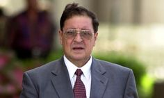 Former Salvadoran National Guard head Carlos Eugenio Vides Casanova leaves Federal Court in Palm Beach, Fla., Monday,  Oct. 23, 2000. Vides, along with ex-Salvadoran Defense Minister Jose Guillermo Garcia, is being sued by the familes of three nuns and a missionary murdered in El Salvador in 1980. The families say the men knew of the murders but did nothing to stop it. (AP Photo/Marta Lavandier)