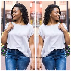 Our beautiful ♥️ Weave Braid Styles, Braids With Weave, Natural Hair Care, Natural Hair Styles, Natural Beauty, Sister Locs, Natural Hair Inspiration, Casual Street Style, Dreads