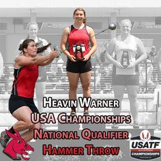 UCM track and field student athlete Heavin Warner will compete in the hammer throw at the 2015 USA National Championships.