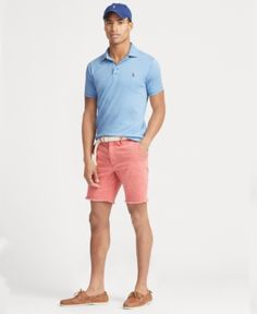 Polo Ralph Lauren Men's Classic Fit Soft Touch Polo - Blue M Mens Golf Fashion, Mens Golf Outfit, Golf Attire, Gents Fashion, Short Outfits, Preppy Outfits, Summer Outfits, Preppy Boys, Outfits Hombre