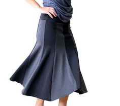Plus size long skirt Wide band long skirt Stertchy jersey