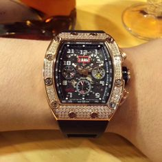 Richard Mille 11 Iced Out – Watch Plugz Rolex Watches For Sale, Boys Watches, Luxury Watches, Men's Watches, Ring Watch, Watch Case, Bracelet Watch, Tourbillon Watch, Gold Diamond Watches