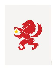 Did you know in heraldry a lion with it's forepaws raised and standing on hing legs is described as 'rampant'