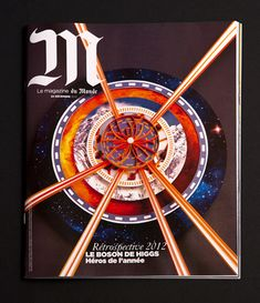 """Cover and illustrations for Le Monde • COVER Representation of a collision of protons (based on a graph from the CERN). The rings range from infinitely large, to infinitely small. - Interprétation d'une collision de protons, basé sur un graphique du CERN. Les anneaux allant de l'infiniment grand, à l'infiniment petit. • 1 Higgs boson is the last piece of a puzzle assembled by physicists since 50 years to describe the matter of the Universe. - """"Le boson de Higgs est comme l..."""