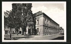 Aschersleben, Blick auf Holzmarktschule (Postkarte)