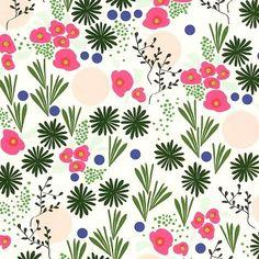 Snow & Graham Designer Print - Kukka - Scrapbook Paper