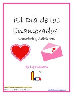 $ Teach your students some new vocabulary for Valentine's Day in Spanish!