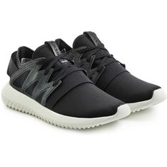 Adidas Originals Tubular Viral Sneakers (€88) ❤ liked on Polyvore featuring shoes, sneakers, black, adidas originals shoes, strappy shoes, lightweight sneakers, lace up sneakers and black lace up shoes