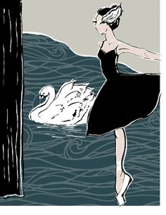 are you team Odette or Odile?! Swan Lake ink pen and digital illustration by Lynsey Erin Hirth Illustration #ballet #fashion #illustration