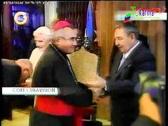 Obispo deja mano extendida a Raul Castro - YouTube