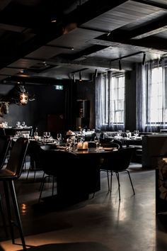 Verve Chair by Geckeler Michels and Spine Wood Base Barstool by Space Copenhagen featured at the restaurant Luficer in Copenhagen. Bar Interior, Interior Design, Space Copenhagen, Bar Set, Restaurant Bar, Your Space, A Table, Bar Stools, Restaurants