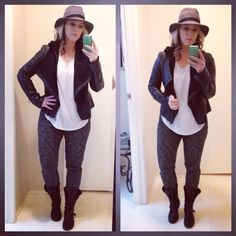 A fedora and casual joggers