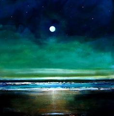 Toni Grote Spiritual Art From My Heart to Yours : Nov 13 Minimalist Nighttime Inspirational Original Painting 10x10