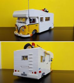 Lego Van, Lego Camper, Volkswagen, Vw T1, Lego Technic, Lego Projects, Projects For Kids, Lego Machines, Lego Furniture