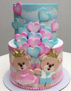 Best cupcakes decoration ideas girls valentines day ideas - birthday /Communion/ Christmas cakes n tutorials - Pretty Cakes, Cute Cakes, Beautiful Cakes, Yummy Cakes, Amazing Cakes, Fondant Cakes, Cupcake Cakes, Bolo Fack, Baby Reveal Cakes