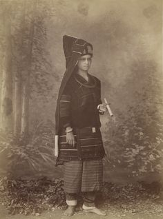Palaung Woman; Felice Beato (English, born Italy, 1832 - 1909); Burma; about 1890; Albumen silver print; 25.2 x 18.4 cm (9 15/16 x 7 1/4 in.); 2007.26.202.4; Partial gift from the Wilson Centre for Photography
