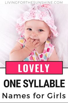 Are you looking for a short, simple and beautiful middle name for your baby girl? This list of one syllable middle names will help you find the perfect middle name for your baby girl! Baby Girl Middle Names, Baby Names Short, Boy Names, Names Baby, Cutest Baby Names, Sweet Girl Names, One Syllable Girl Names, Old Fashioned Names, Unique Girl Names