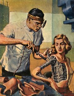 Ed Emshwiller - Robots Repaired While U Wait.