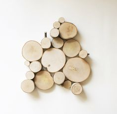 natural white birch forest topography - no. 7, wood slices wall art, wood wall decor, modern rustic, tree branch wall sculpture by urbanplusforest on Etsy https://www.etsy.com/listing/84917255/natural-white-birch-forest-topography-no