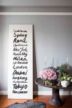 Keep track of all the major cities on your bucket list. | 28 Inspiring Decor Ideas To Satisfy Your Wanderlust