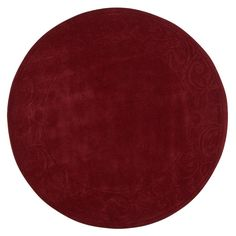 Cyrus Burgundy (Red) 7 ft. 9 in. Round Area Rug