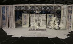 'Twas the Night Before Christmas will open later this fall) just sent these photos of the set design models. The designer is Luciana Stecconi and as you can see, they are really fantastic!