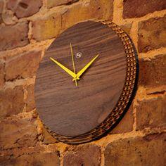 Walnut Clock by Liquidesign