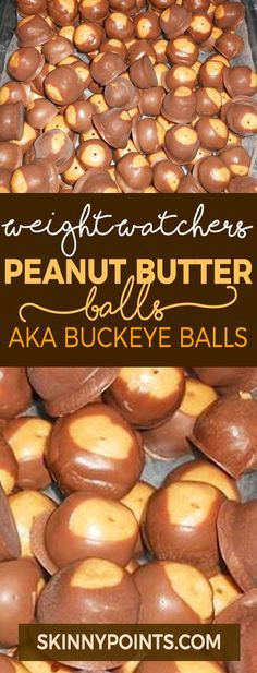 Peanut Butter Balls AKA Buckeye Balls with Weight watchers Smart Points