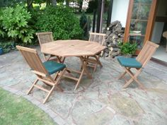 cool HUMBER TEAK 9 PIECE TOP GRADE SVLK COMPLIENT TEAK OUTDOOR DINING SET Buy this and much more home & living products at http://www.woonio.co.uk/p/humber-teak-9-piece-top-grade-svlk-complient-teak-outdoor-dining-set/