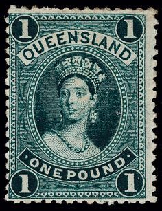 Queensland 83 1886 Queen Victoria, wmkd Large Crown and Q, perf thick paper Old Stamps, Vintage Stamps, Stamp Duty, Postage Stamp Collection, First Day Covers, Penny Black, Fauna, Stamp Collecting, Label Design