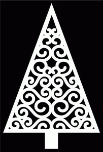 Tons of Free SVG Files for Cricut/Sure Cuts A Lot: Swirly Christmas Tree 2 by Bird