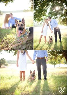engagement photos with pup by @Shalyn Nelson