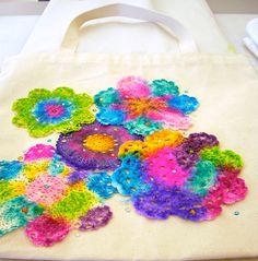 Have old damaged doilies or lace? Sharpie-Dye them & applique to anything, or make a scarf. /;)