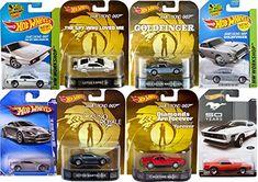 Ultimate 007 Hot Wheels 8 Car Set James Bond 4 Retro Entertainment 4 mainline with Goldfinger Aston  @ niftywarehouse.com