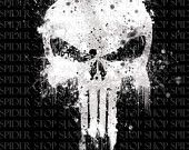 "The Punisher Skull Grunge ""18 x 24"""
