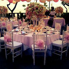 Wedding table set-up