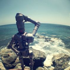 Photos from our recent summer trip where an IG-88 action figure took a trip of it's own. I took it with us just in case, and sure enough, after a couple of days I found myself photographing it and Iggy began the transformation from a ruthless assassin/bounty hunter to a sweet keeper of a small bar by the beach.  I loved Iggy's trip and merely documented it, it just happened by itself.  :D