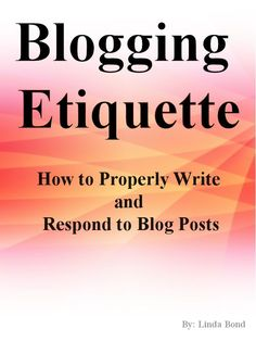 My eBook is Finally Live on Amazon – Blogging Etiquette