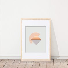 KAMI. DESIGN KAMI Triangle Poster (27 NZD) ❤ liked on Polyvore featuring home, home decor and wall art